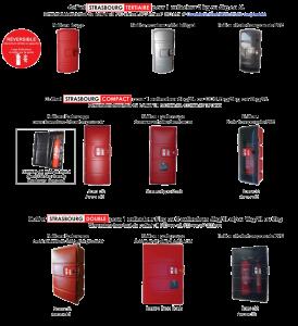 Coffrets de sécurité pour extincteurs