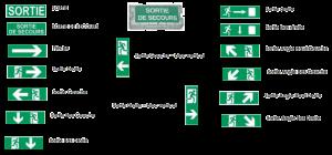 Signalétique - Evacuation